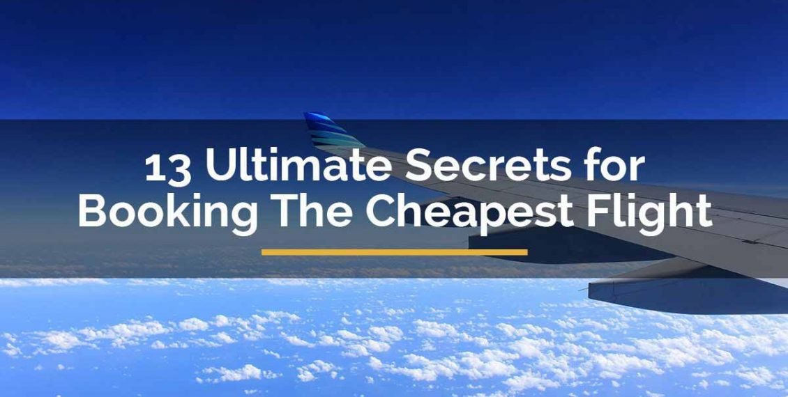 secrets of booking the cheapest flight