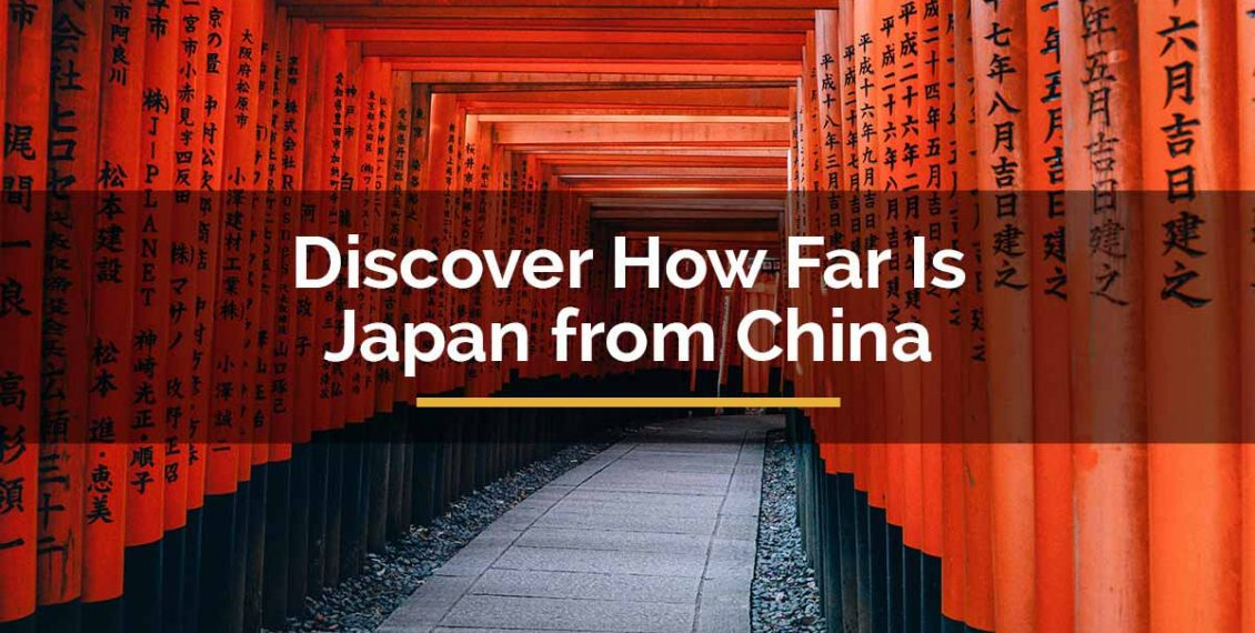 how far is japan from china