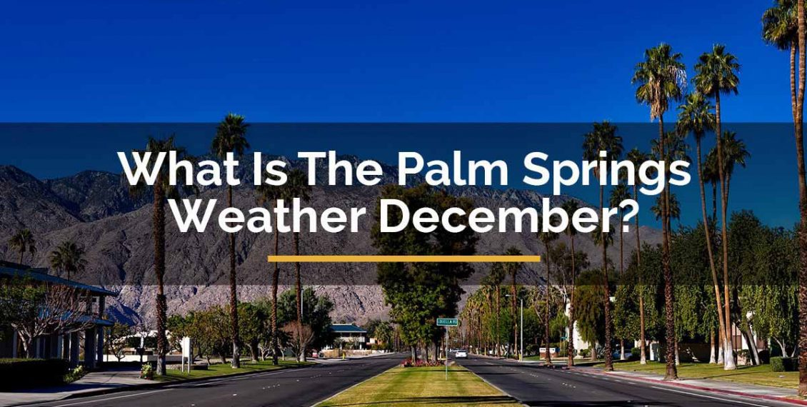 palm springs weather december