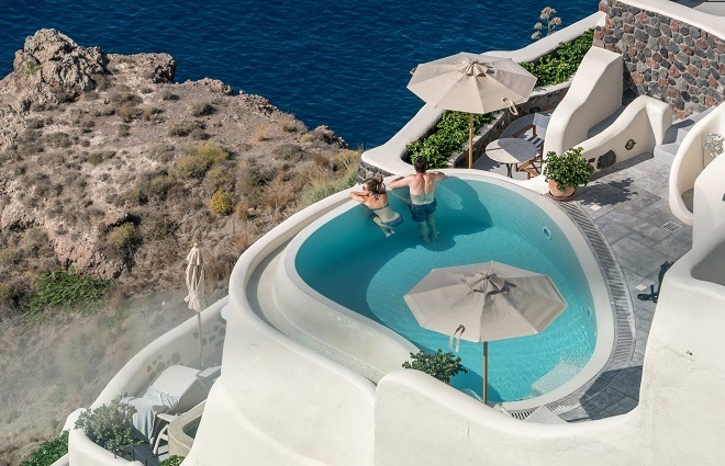 luxury holiday in europe Santorini Airbnb