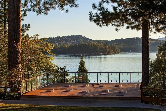 things to do in Lake Arrowhead yoga by the water