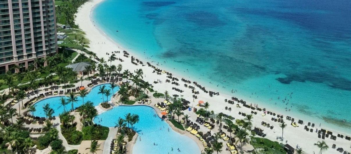 Cabbage Beach in Nassau Bahamas