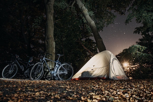 bike packing travel tips tent camping